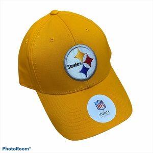NFL Steelers Adjustable Men's Hat Cap NWT Gold